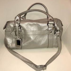 Tignanello Handbag/Crossbody - Pearlized Silver